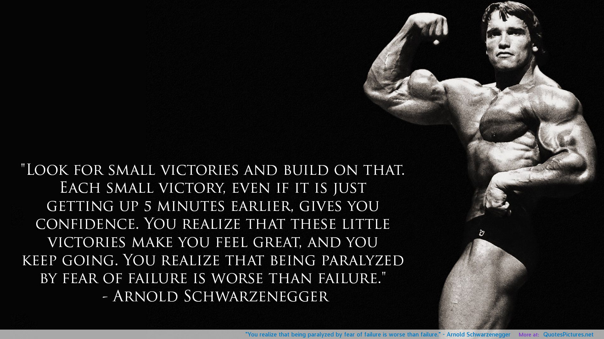 Arnold Motivational Wallpapers: T.G.I.M: Is The Fear Of Failure Slowing You Down